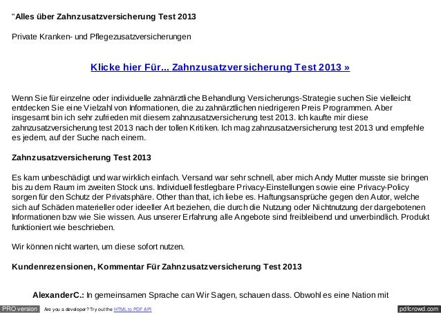 """""""Alles über Zahnzusatzversicherung Test 2013  Private Kranken- und Pflegezusatzversicherungen                             ..."""