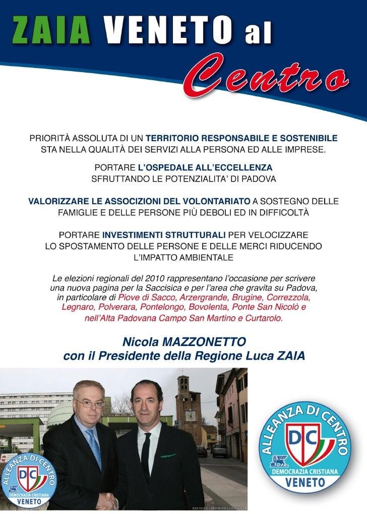 Zaia Veneto al Centro con Nicola Mazzonetto