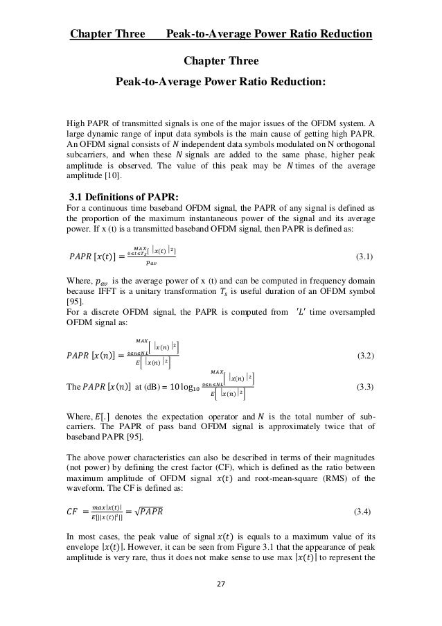 thesis on ofdm system Channel estimation in ofdm systems a thesis submitted in partial fulfillment of the requirements for the degree of master of technology in electronics systems and.