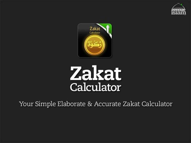 Zakat calculator iPhone, iPod, iPad App Presentation