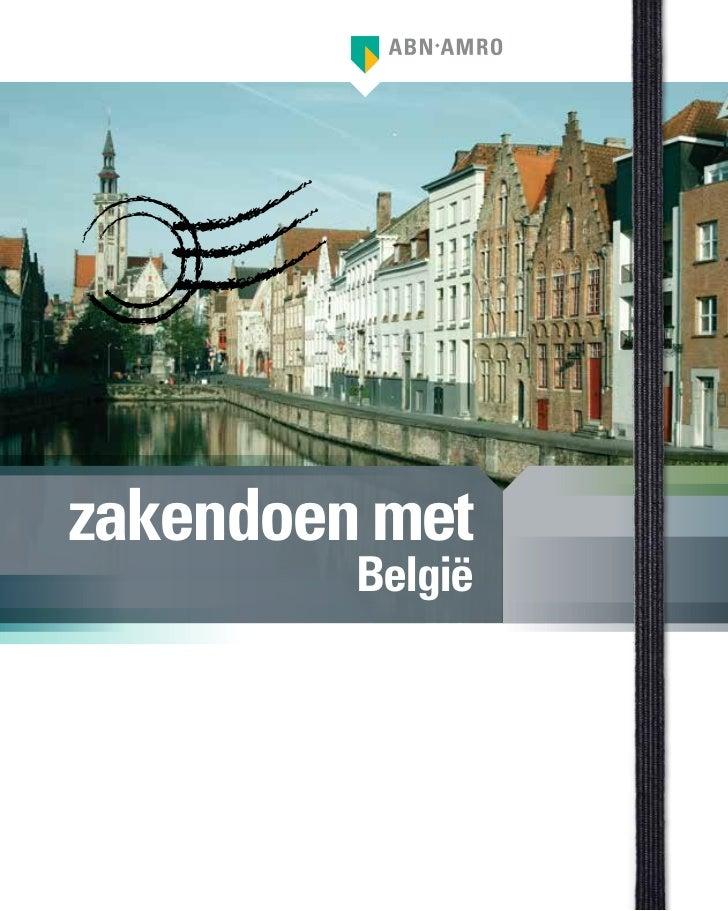 """ABN AMRO zakenreisgids """"zakendoen met België"""""""