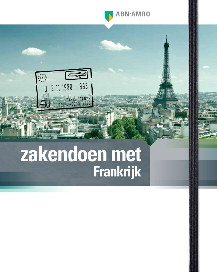 """ABN AMRO zakenreisgids """"zakendoen met Frankrijk"""""""