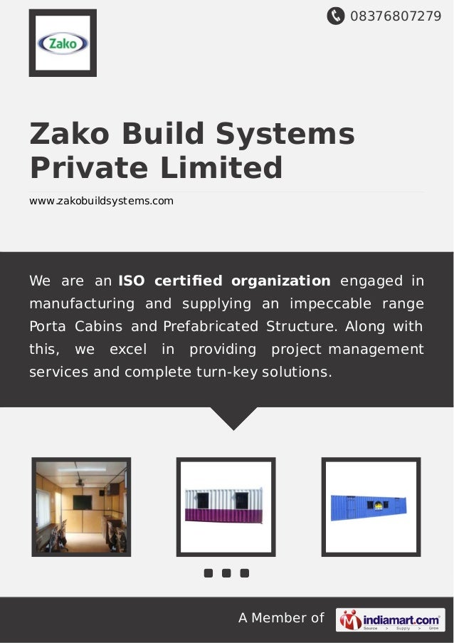 08376807279 A Member of Zako Build Systems Private Limited www.zakobuildsystems.com We are an ISO certified organization en...