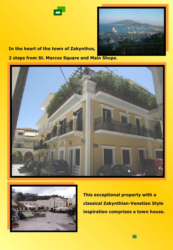 This exceptional property with a  classical Zakynthian-Venetian Style  inspiration comprises a town house.  In the heart o...