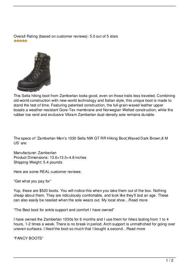 Zamberlan Men's 1030 Sella NW GT RR Hiking Boots