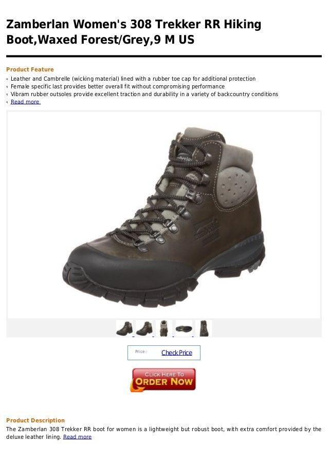 Zamberlan women's 308 trekker rr hiking boot,waxed forest grey,9 m us