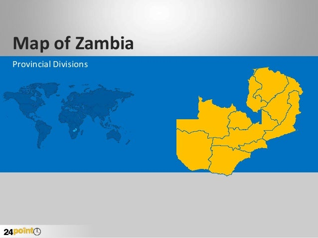 Map of Zambia Provincial Divisions