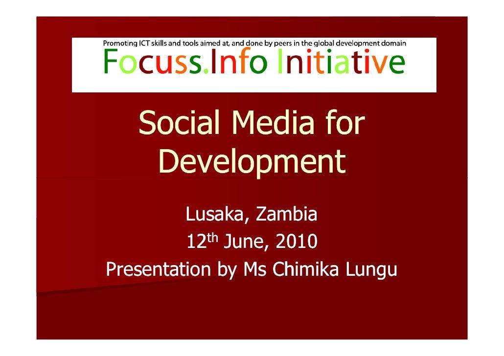 Zambia Focuss.Info Workshop Presentation-June 2010