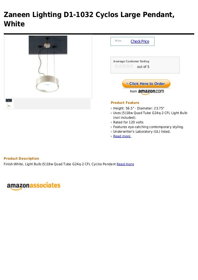 Zaneen lighting d1 1032 cyclos large pendant, white