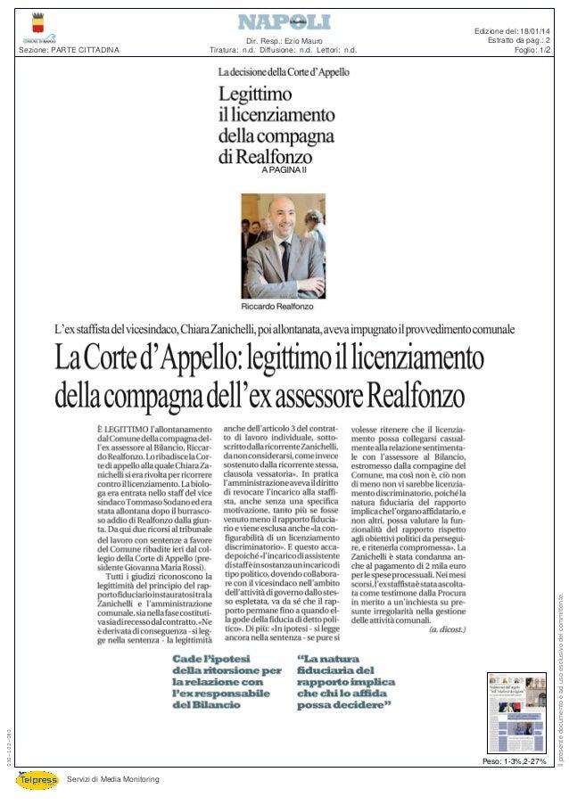 Edizione del: 18/01/14 Estratto da pag.: 2 Foglio: 1/2  Peso: 1-3%,2-27% Servizi di Media Monitoring  Il presente document...