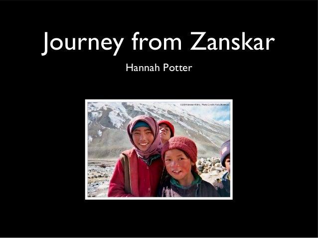 Journey from Zanskar Hannah Potter