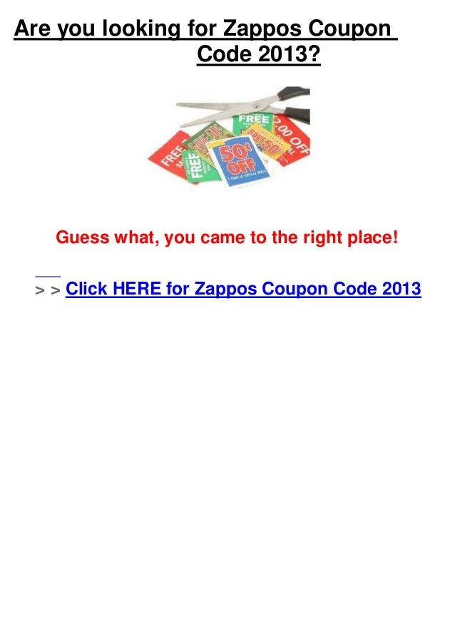 Coupons for zappos discount codes
