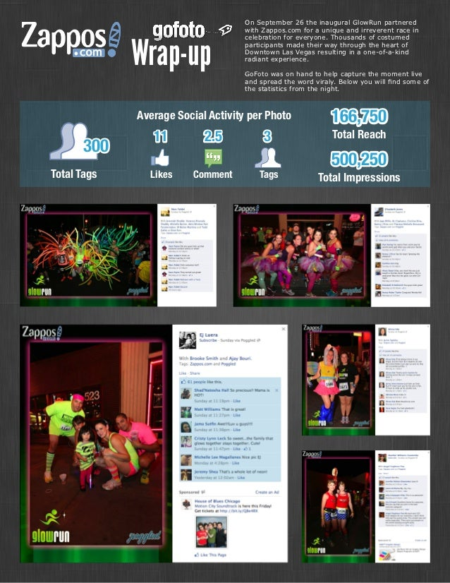 On September 26 the inaugural GlowRun partnered                                    with Zappos.com for a unique and irreve...