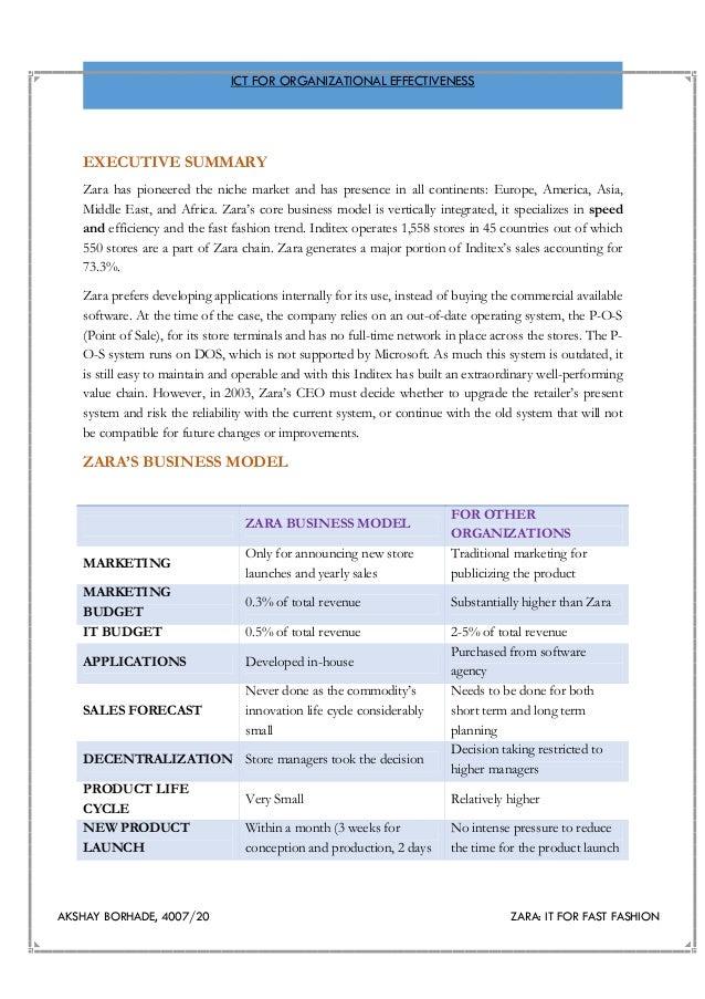 Zara fast fashion case analysis paper 57