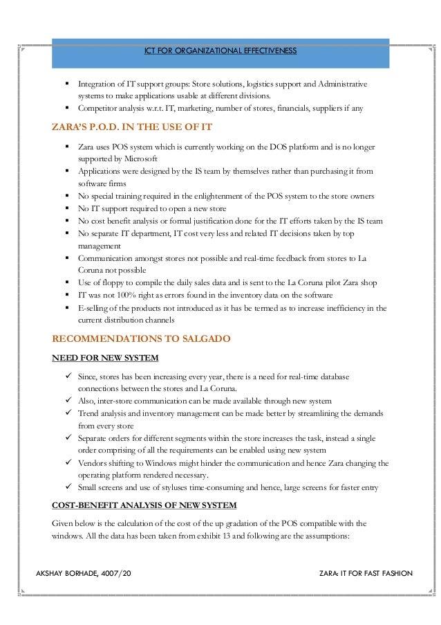 zara pos system case study
