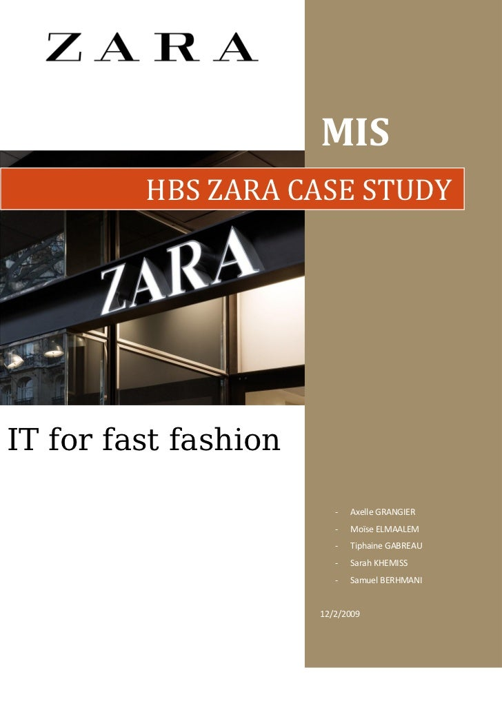zara case study questions
