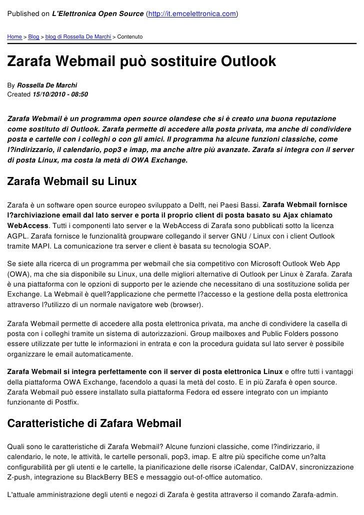 Published on LElettronica Open Source (http://it.emcelettronica.com)Home > Blog > blog di Rossella De Marchi > ContenutoZa...