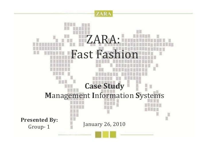 Zara Fashion : Marketing Strategy and M.I.S.