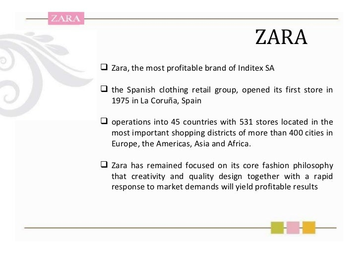 Zara business plan