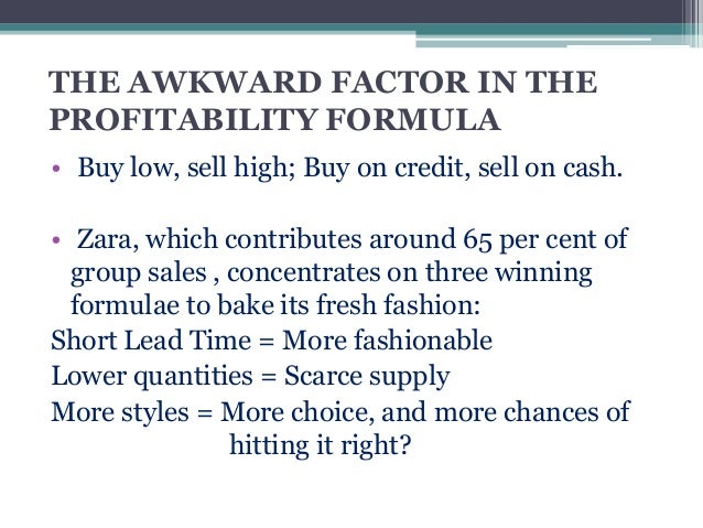 supply chain management and zara Logistics and supply chain management zara: apparel manufacturing and retail zara is a chain of fashion stores owned by inditex.