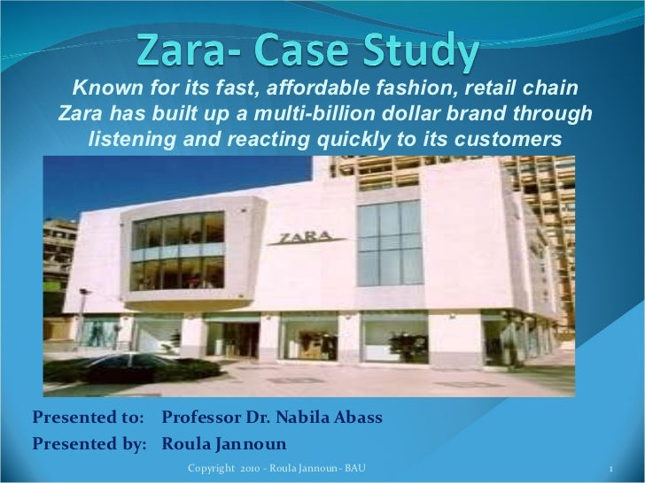 Presented to:  Professor Dr. Nabila Abass Presented by: Roula Jannoun Copyright  2010 - Roula Jannoun- BAU Known for its f...