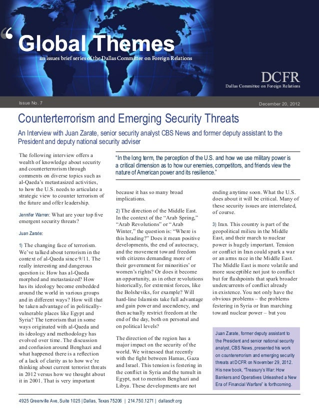 Counterterrorism and Emerging Security Threats
