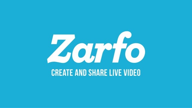 Zarfo pitch deck