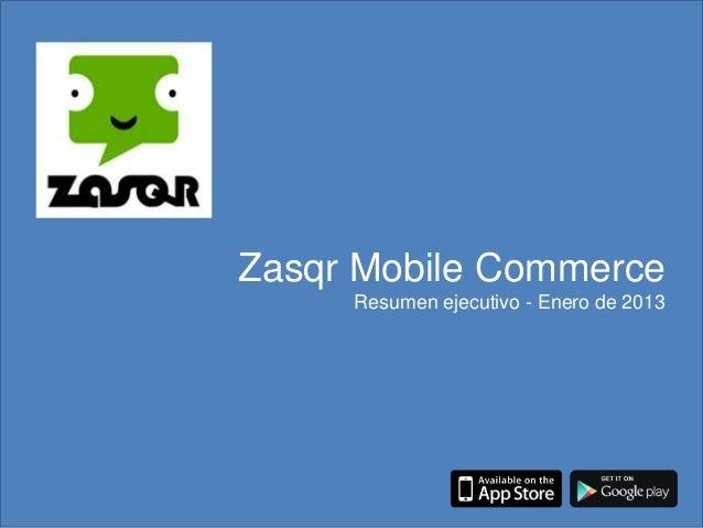 Presentación Zasqr - enero 2013