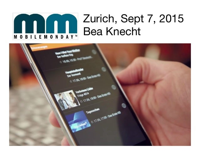 Zurich, Sept 7, 2015 Bea Knecht