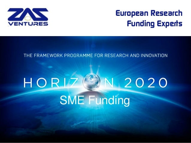 European Research Funding Experts  SME Funding