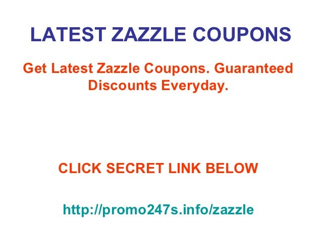 Zazzle coupons discounts