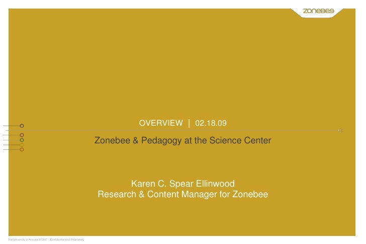 OVERVIEW | 02.18.09                                                                    Zonebee & Pedagogy at the Science C...