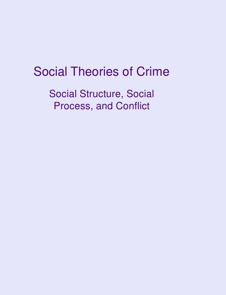 Social Theories of Crime