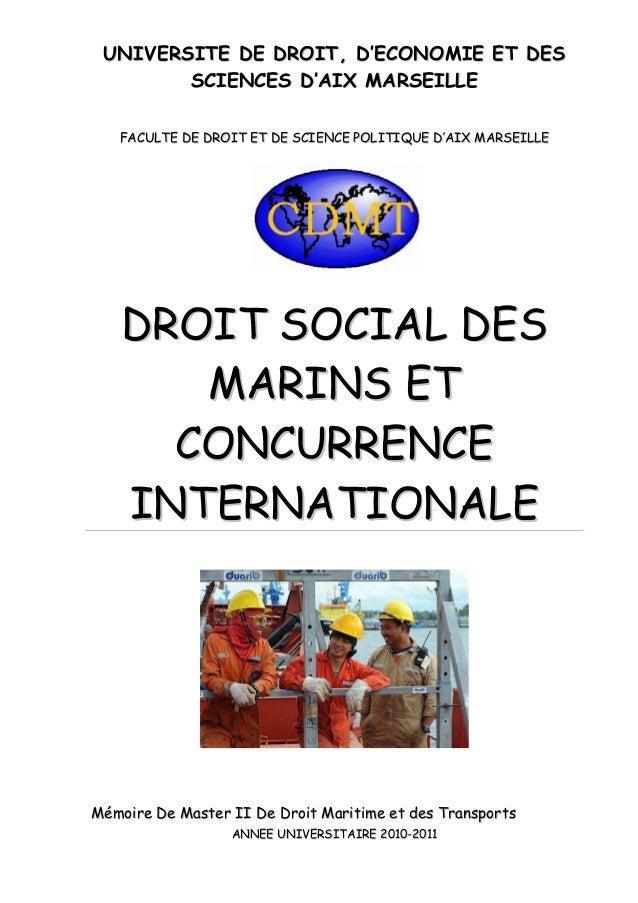 Z droit social des marins