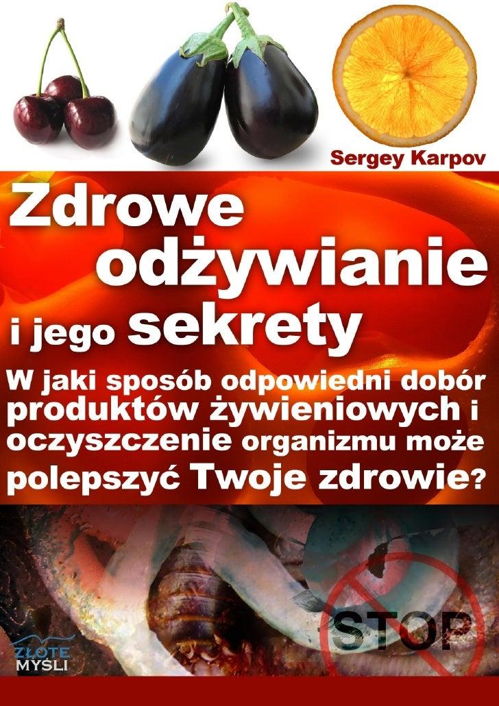 Zdrowe odżywianie i jego sekrety - Sergiusz Karpov i Wiera Chmielewska - ebook