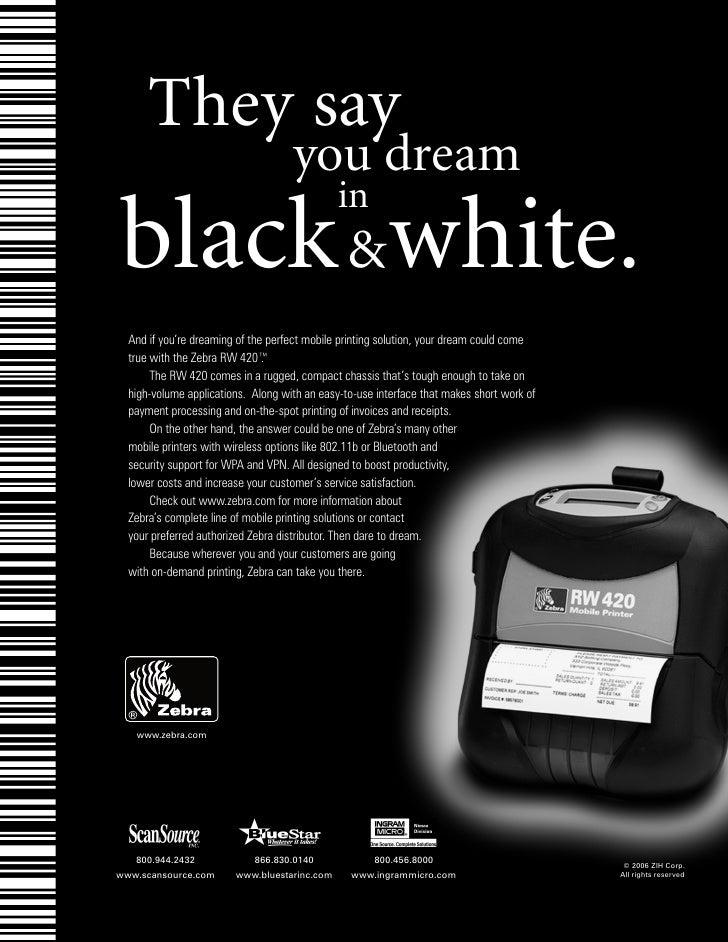 """Zebra """"Dream"""" Ad (B2B Magazine)"""