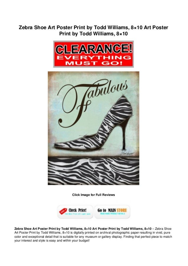 Zebra shoe art_poster_print_by_todd_williams_8x10_art_poster_print_by_todd_williams_8x10