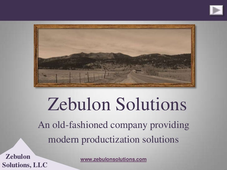 Zebulon Solutions          An old-fashioned company providing            modern productization solutions Zebulon          ...