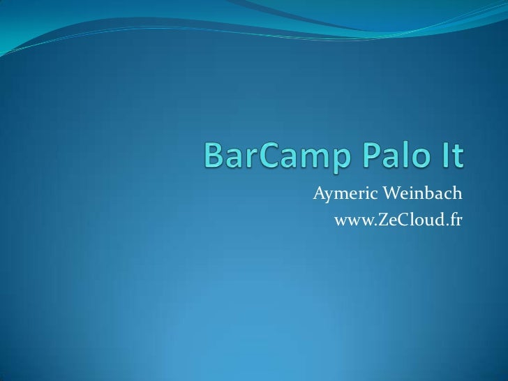 Aymeric Weinbach  www.ZeCloud.fr