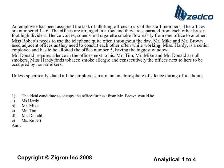 An employee has been assigned the task of allotting offices to six of the staff members. The offices are numbered 1 - 6. T...