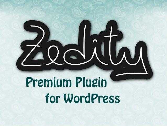 Zedity Premium WordPress Plugin