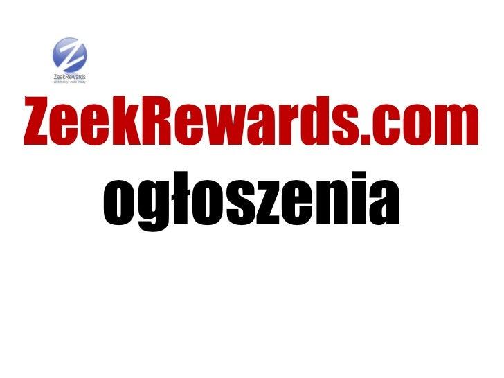 Zeek rewards ogloszenia