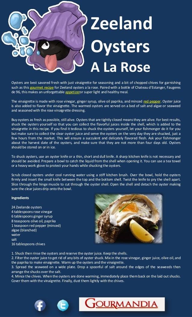 Zeeland oysters a la rose