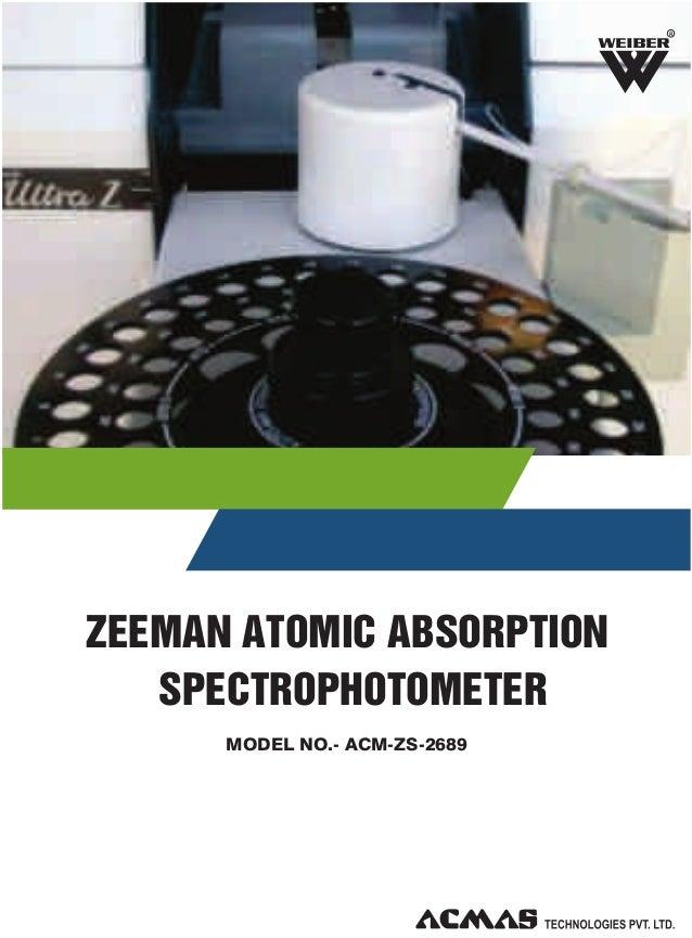 R  ZEEMAN ATOMIC ABSORPTION SPECTROPHOTOMETER MODEL NO.- ACM-ZS-2689