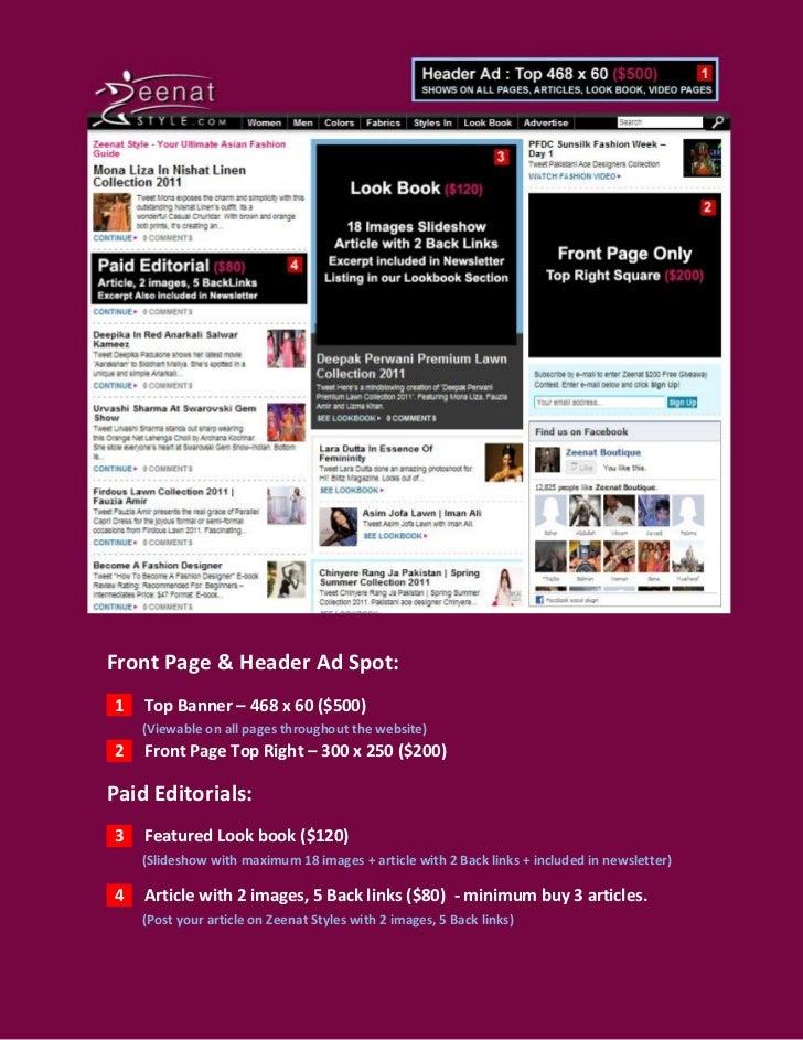 Zeenat Style Media Kit