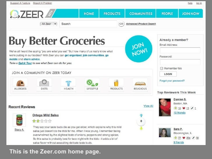 This is the Zeer.com home page.