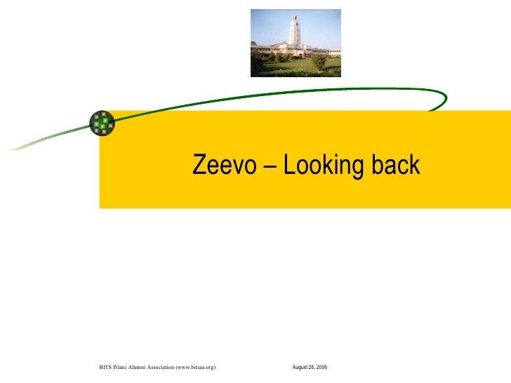 """Zeevo: A Startup's journey"" by Vikram Gupta"
