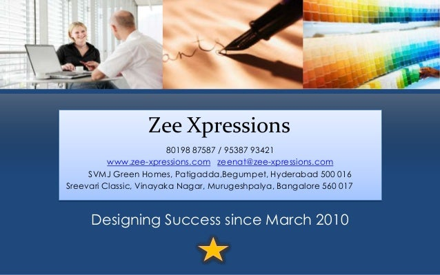 Zee Xpressions E-Brochure: Content and Creative Design Suite of Services