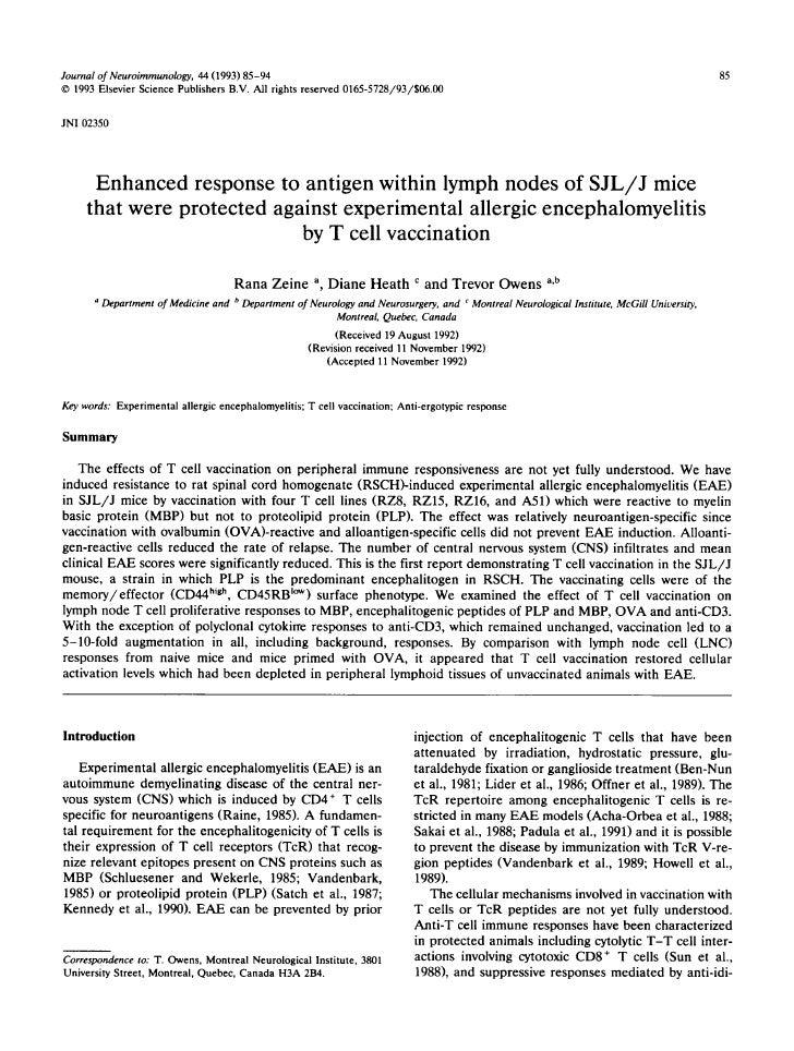 Zeine et al. J. Neuroimmunology 1993