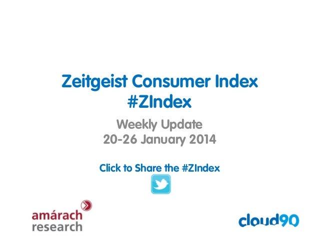 Zeitgeist Consumer Index #ZIndex Weekly Update 20-26 January 2014 Click to Share the #ZIndex